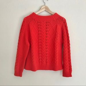 J, Crew Cable Knit Sweater SZ M